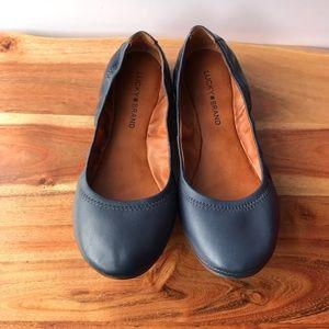 Lucky Brand Emmie Ballet Flats Navy Blue Size 9.5